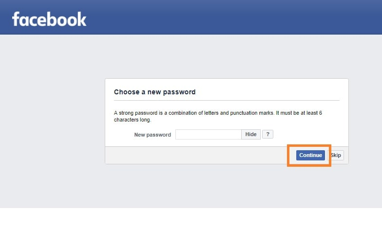 Reset my is password facebook to trying someone Learn How